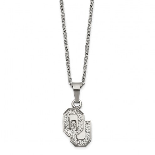 Oklahoma Sooners Stainless Steel Pendant Necklace