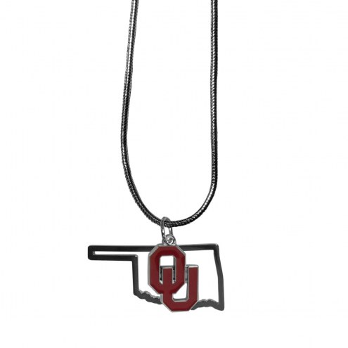 Oklahoma Sooners State Charm Necklace