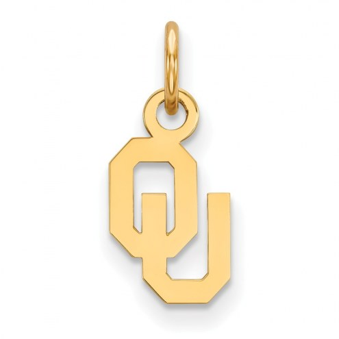 Oklahoma Sooners Sterling Silver Gold Plated Extra Small Pendant