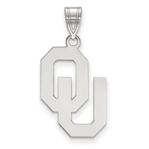 Oklahoma Sooners Sterling Silver Large Pendant