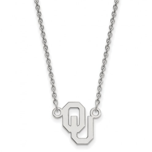 Oklahoma Sooners Sterling Silver Small Pendant Necklace
