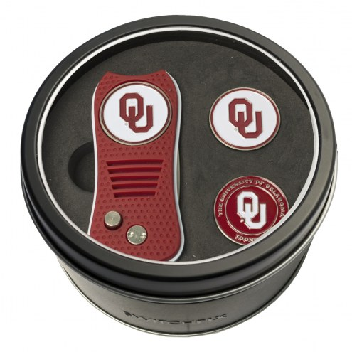 Oklahoma Sooners Switchfix Golf Divot Tool & Ball Markers