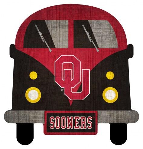 Oklahoma Sooners Team Bus Sign