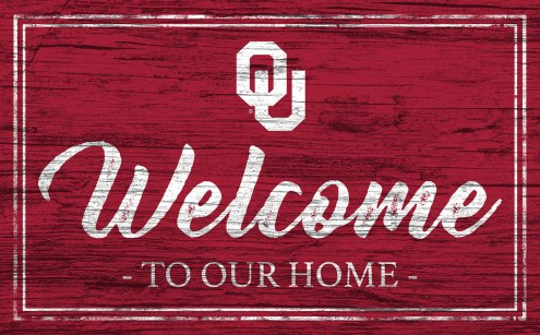 Oklahoma Sooners Team Color Welcome Sign