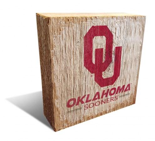 Oklahoma Sooners Team Logo Block
