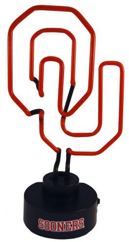 Oklahoma Sooners Team Logo Neon Lamp