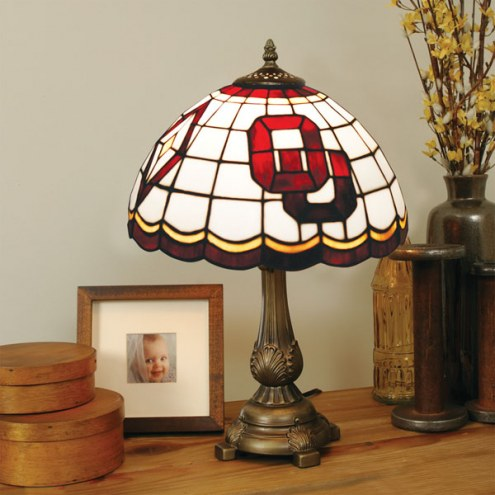 Oklahoma Sooners Tiffany Table Lamp