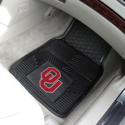 Oklahoma Sooners Vinyl 2-Piece Car Floor Mats