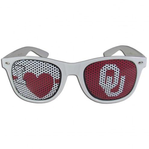 Oklahoma Sooners White I Heart Game Day Shades