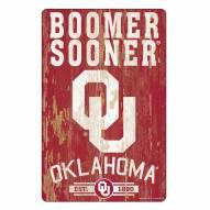 Oklahoma Sooners Slogan Wood Sign