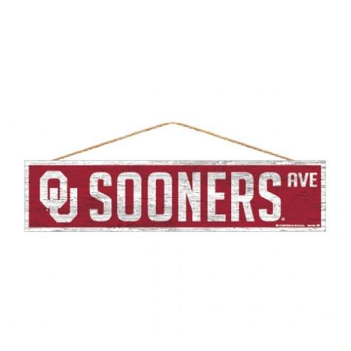 Oklahoma Sooners Wood Avenue Sign