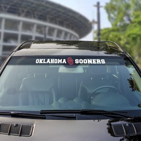 Oklahoma Sooners Windshield Decal