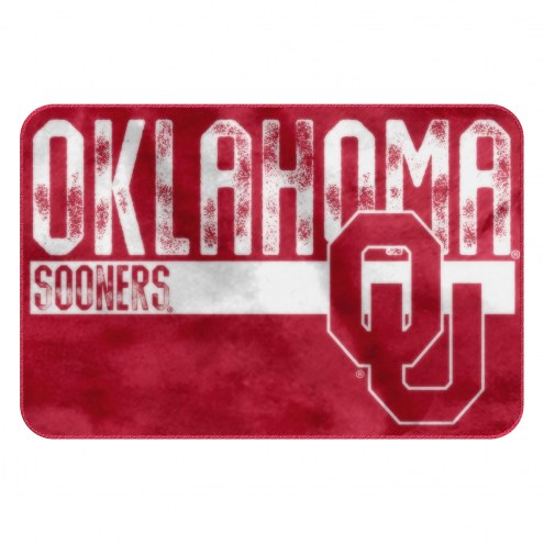 Oklahoma Sooners Worn Out Bath Mat