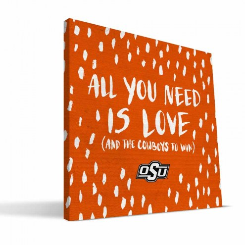 "Oklahoma State Cowboys 12"" x 12"" All You Need Canvas Print"