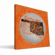 "Oklahoma State Cowboys 12"" x 12"" Born a Fan Canvas Print"