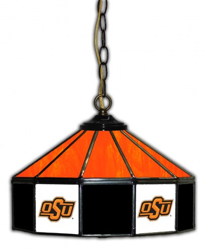 "Oklahoma State Cowboys 14"" Glass Pub Lamp"