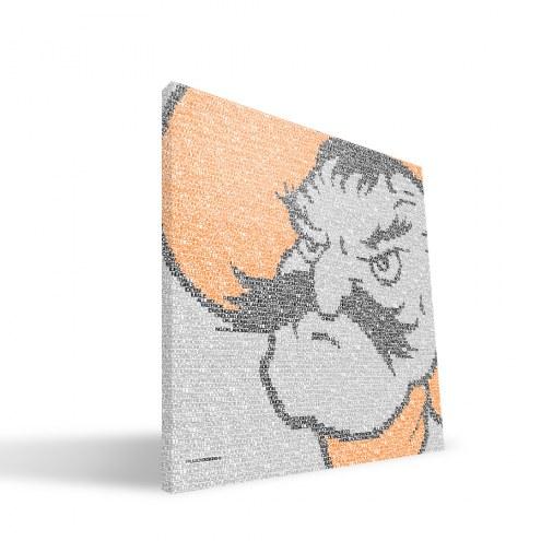 "Oklahoma State Cowboys 16"" x 16"" Typo Canvas Print"