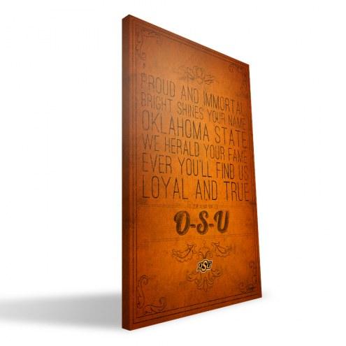 "Oklahoma State Cowboys 16"" x 24"" Song Canvas Print"
