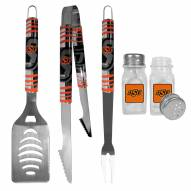 Oklahoma State Cowboys 3 Piece Tailgater BBQ Set and Salt and Pepper Shakers