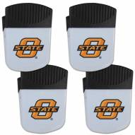 Oklahoma State Cowboys 4 Pack Chip Clip Magnet with Bottle Opener