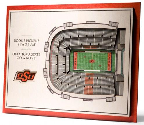 Oklahoma State Cowboys 5-Layer StadiumViews 3D Wall Art