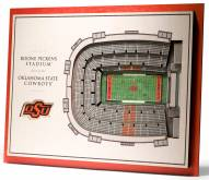 Oklahoma State Cowboys 5-Layer StadiumViews 3D Wall Art