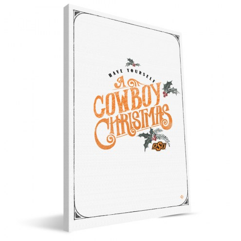 "Oklahoma State Cowboys 8"" x 12"" Merry Little Christmas Canvas Print"