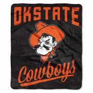 Oklahoma State Cowboys Alumni Raschel Throw Blanket