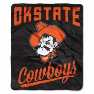 Oklahoma State Cowboys Alumni Raschel Throw Blanket