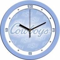 Oklahoma State Cowboys Baby Blue Wall Clock