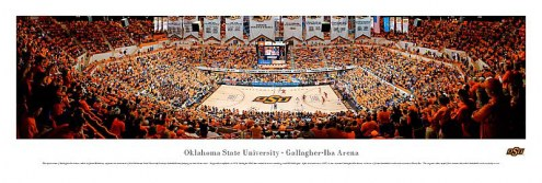 Oklahoma State Cowboys Basketball Unframed Panorama