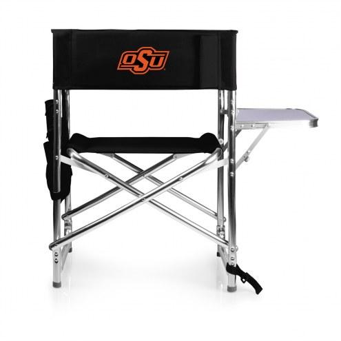 Oklahoma State Cowboys Black Sports Folding Chair
