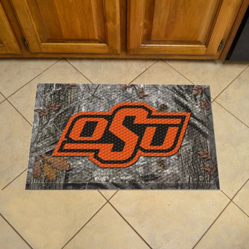 Oklahoma State Cowboys Camo Scraper Door Mat