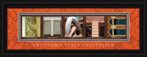 Oklahoma State Cowboys Campus Letter Art