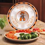 Oklahoma State Cowboys Ceramic Chip and Dip Serving Dish