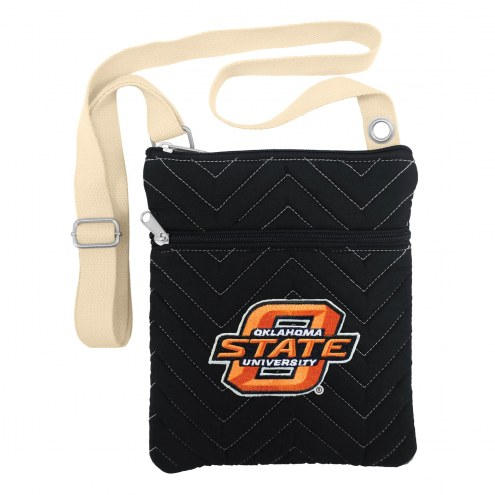Oklahoma State Cowboys Chevron Stitch Crossbody Bag