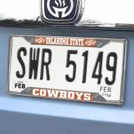 Oklahoma State Cowboys Chrome Metal License Plate Frame