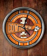 Oklahoma State Cowboys Chrome Wall Clock