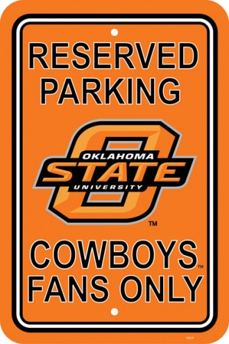 Oklahoma State Cowboys College Parking Sign