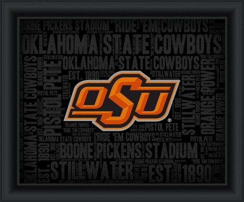 Oklahoma State Cowboys College Word Cloud