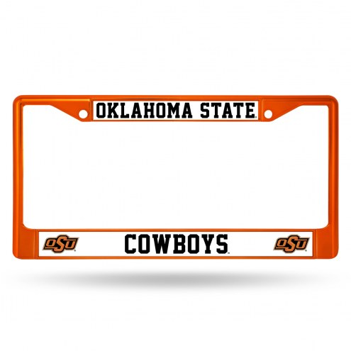 Oklahoma State Cowboys Color Metal License Plate Frame