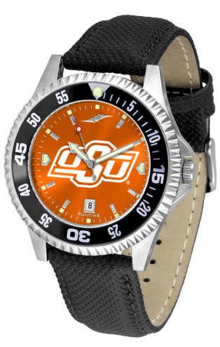 Oklahoma State Cowboys Competitor AnoChrome Men's Watch - Color Bezel