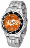 Oklahoma State Cowboys Competitor Steel AnoChrome Color Bezel Men's Watch