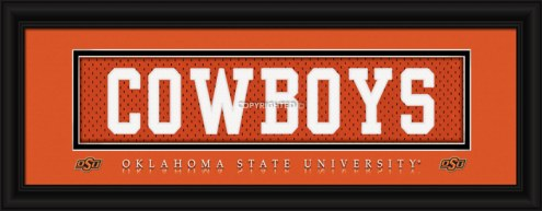 "Oklahoma State Cowboys ""Cowboys"" Stitched Jersey Framed Print"