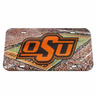 Oklahoma State Cowboys Crystal Mirror License Plate