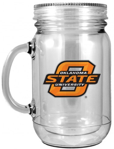 Oklahoma State Cowboys Double Walled Mason Jar
