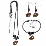 Oklahoma State Cowboys Euro Bead Jewelry 3 Piece Set