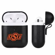 Oklahoma State Cowboys Fan Brander Apple Air Pods Leather Case