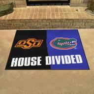 Oklahoma State Cowboys/Florida Gators House Divided Mat