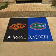 Oklahoma State Cowboys/Florida Gators House Divided Mat